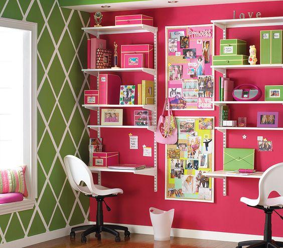 An Elfa childen's desk solution.