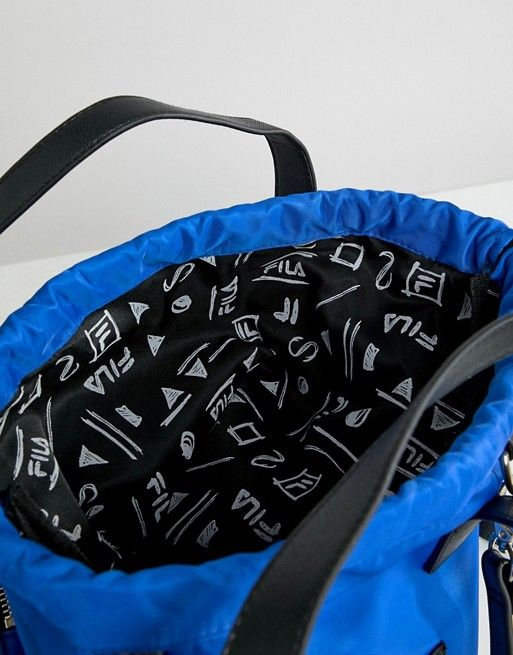 Fila Fila Crow Blue Tote Shopper With Detachable Straps Mochilas