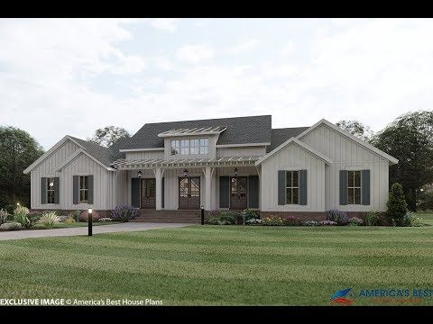 House Plan 041 00202 Modern Farmhouse Plan 3 076 Square Feet 4 Bedrooms 3 5 Bathrooms In 2020 Modern Farmhouse Plans Farmhouse Plans Best House Plans