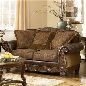 Loveseats Leather Fabric And Traditional Design On Pinterest