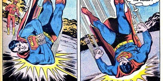 Superman moves earth
