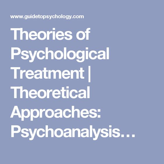 Theories of Psychological Treatment | Theoretical Approaches: Psychoanalysis…
