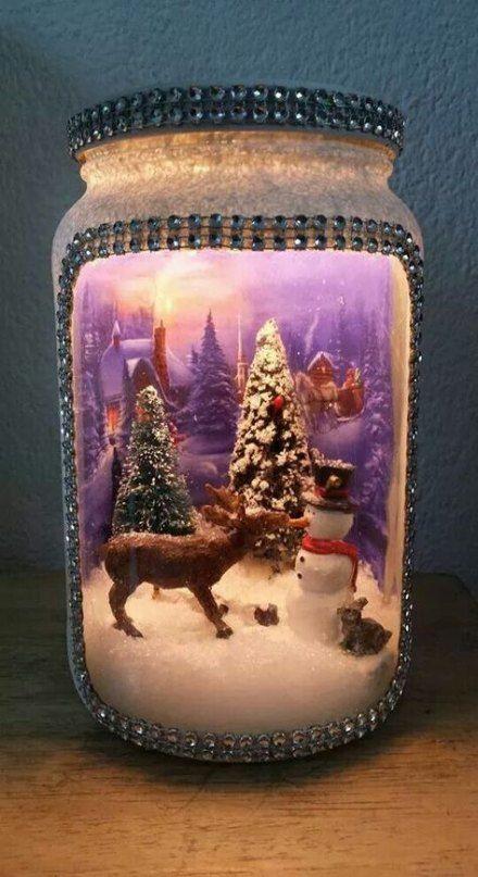 34 Super Ideas For Painting Crafts Kids Glitter Christmas Jars Xmas Crafts Christmas Lanterns