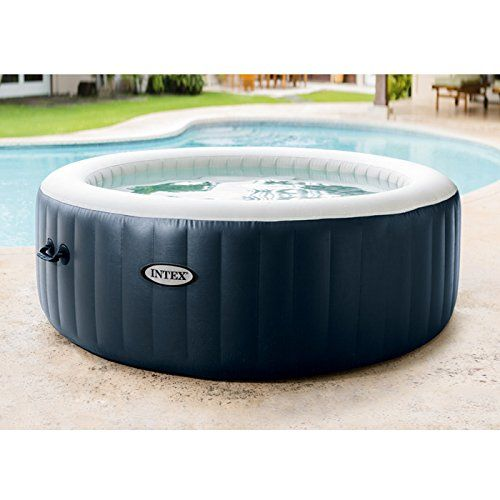 Intex L G Fr 28406ex Pure Spa 4 Places Rond Bulles Led 795 L Bleu Marine 196 X 71 Cm Spa Gonflable Intex Spa Gonflable Baignoire Angle