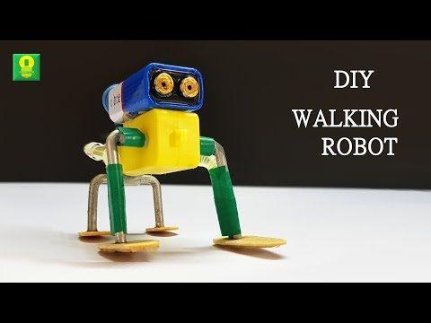 5 How To Make Cute Walking Robot Simple Diy Robot Youtube