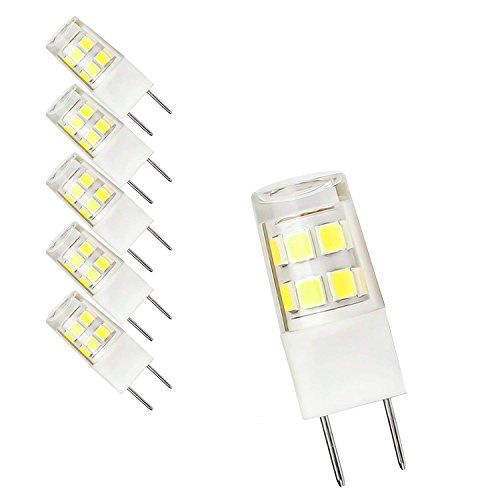 5 Pack G8 Led Bulb 120v T4 G8 Base Bi Pin Xenon Jcd Type Led Halogen Replacement Bulb 50w Equivalent White 6000k Dayli Led Bulb Bulb Under Cabinet Lighting