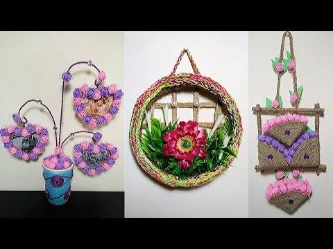 5 Jute Craft Ideas Home Decorating Ideas Handmade Jute Wall Hanging Decorations And Showpiece Youtube Jute Crafts Hanging Decor Hanging Wall Decor,Most Beautiful Speakers
