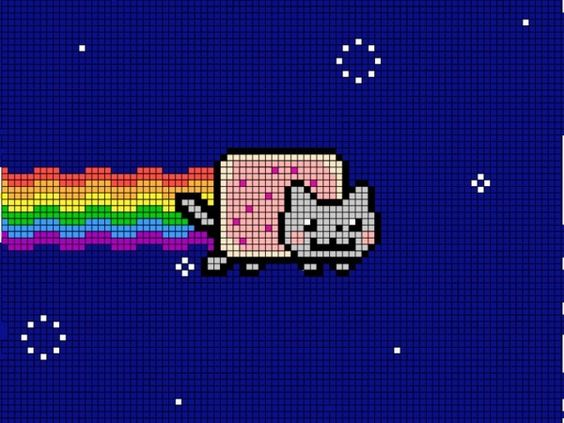Pixel art, Nyan cat and Cats on Pinterest