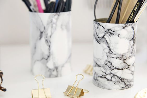 How To Make A DIY Marble Pencil Holder In Just 3 Easy Steps
