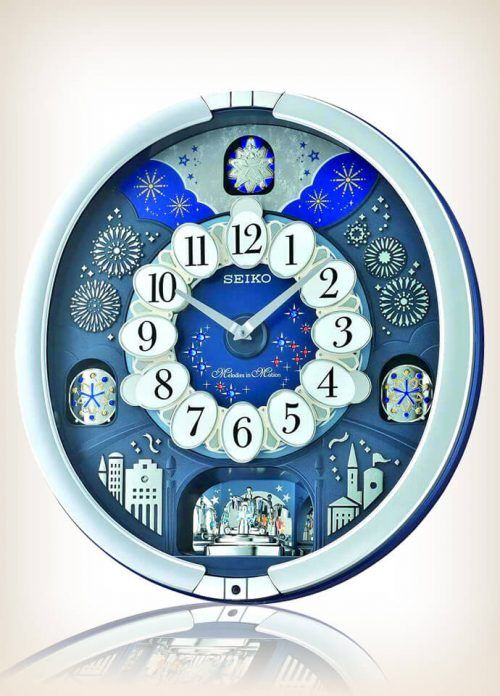 Seiko Qxm379srh Metallic Musical Motion Wall Clock Clock Wall Design