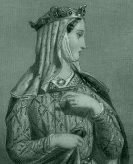 Aliénor d'Aquitaine (or Eléonore de Guyenne), duchess of Aquitaine, one of the wealthiest and most powerful women in western Europe during the High Middle Ages.  First married to King Louis VII of France, then to Henry, Duke of Normandy, who became King Henry II of England in 1154.