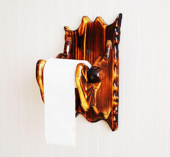 Scheune Holz Toilettenpapierhalter rustikale von RusticWoodForms