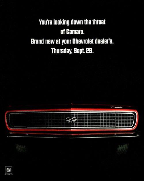 1967 chevy camaro ss advertisement