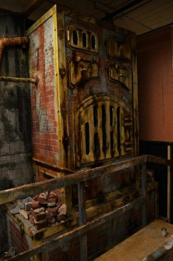 Haunted house boiler room detail haunt inspiration for Halloween haunted room ideas