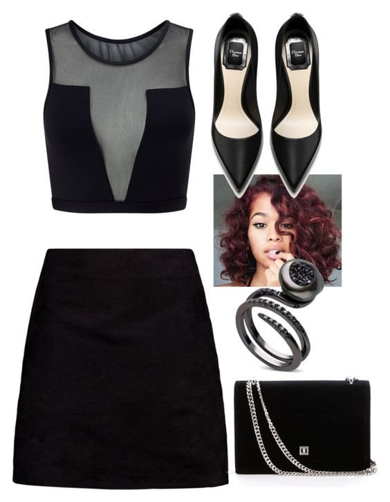 """""""back to black"""" by mammiilonaaa ❤ liked on Polyvore featuring Varley and Boohoo"""