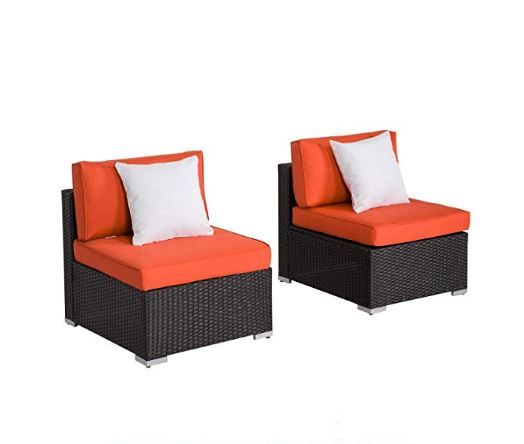 Outdoor Chair W Table Outdoor Loveseat Armless Sofa Love Seat