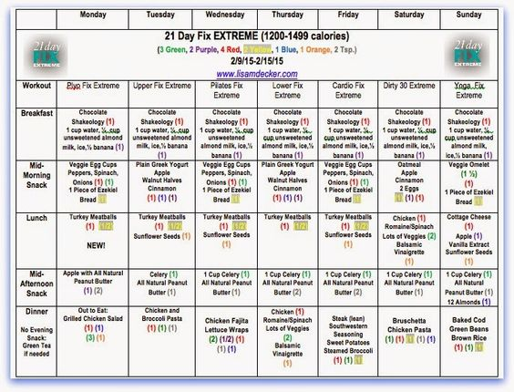 How to Prep for the 21 Day Fix Extreme - MEAL IDEAS and Meal Plan