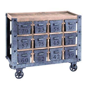 Woodland Imports Woodland Imports Kitchen Cart with Wood Top
