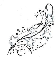 dessin etoile filante tatouage , Recherche Google