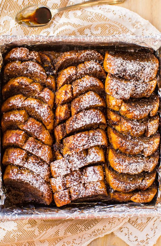 Overnight Gingerbread French Toast Breakfast Bake. Make-ahead French toast that's perfect for chilly mornings! Easy, no-flipping-required recipe!