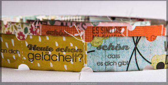 """Paper, ART & Co.: Danipeuss Blog Hop - Ticket""""schlange"""""""