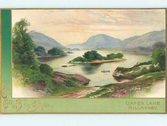 Pre-Linen st. patrick's UPPER LAKE AT KILLARNEY IRELAND HQ8266