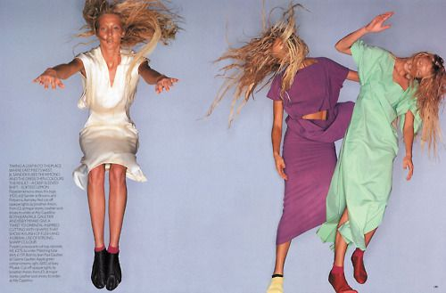 """""""High Voltage"""": Maggie Rizer photographed by Nick Knight for Vogue UK, April 1999"""