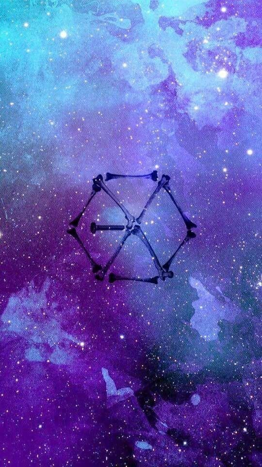 Pin By Rolina On Exo Exo Logo Wallpapers Exo Monster Exo Background Background exo galaxy wallpaper