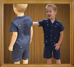 Boys Linen Guayabera Shirt and Short Sets-cute for our little usher