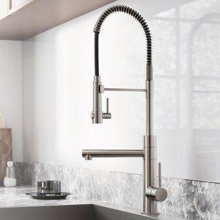 Modern Single Handle Nickel Brushed Spring Faucet Kitchen Faucet