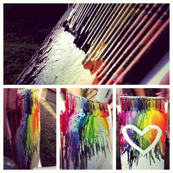 hairdryer. crayons. artsyness.