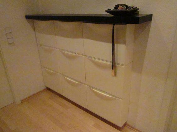 Materials 3 sets of trones shoe boxes 2 lack 30cm shelves 1 lack 110cm shelf about 2 5m - Shoe box storage shelves ...