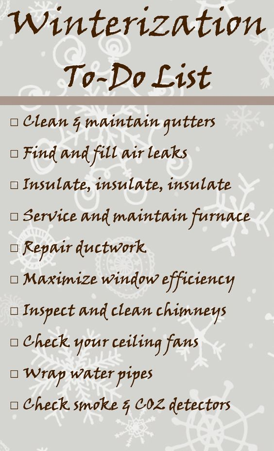 Winterization Checklist To Keep Your Home Healthy And Safe This