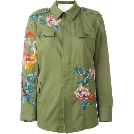 Giada benincasa embroidered military jacket aud