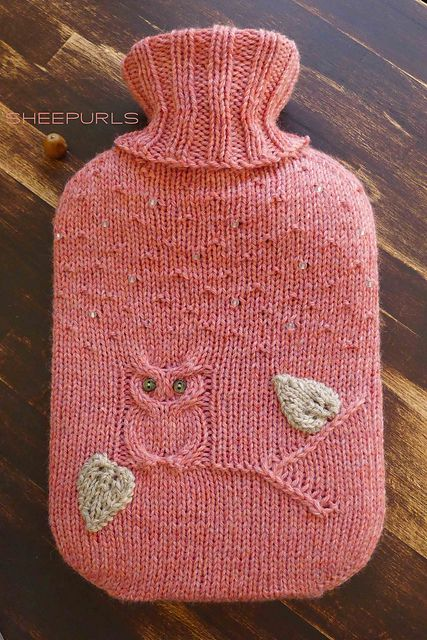 Owl Hot Water Bottle Cover Knitting Pattern : Head to, Ravelry and Water bottles on Pinterest