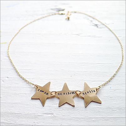 Row of Gold Stars Necklace ~ http://store.camilee.com/Row-Of-Gold-Stars-Necklace.html