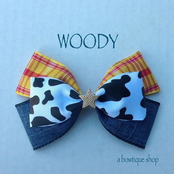 woody hair bow