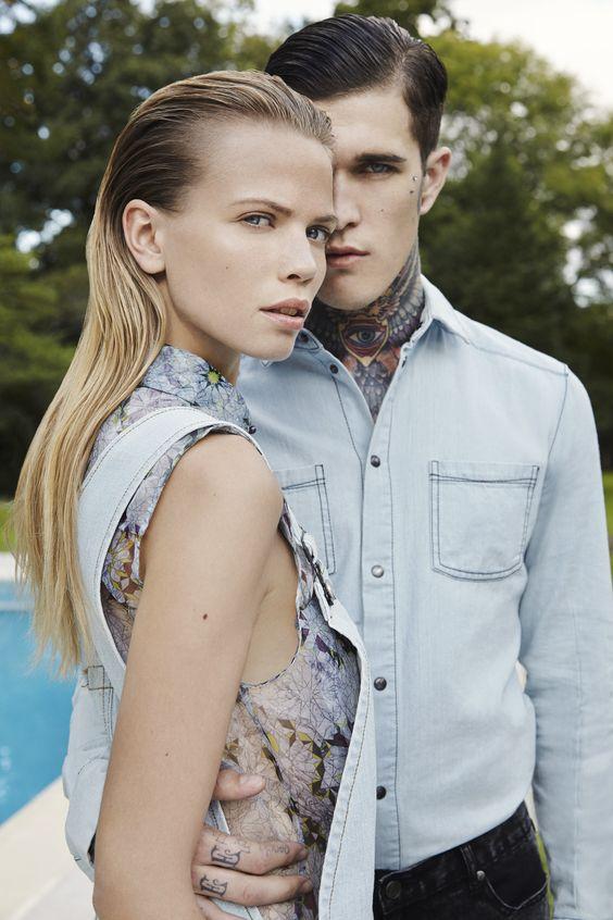 GENERATION OFF LOVE SS14 #couple #men #women #spring #summer #focus #denim #bleach #denim #print