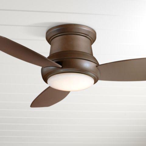 Bronze Flushmount Led Ceiling Fan
