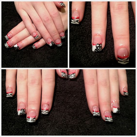 Metal Mulisha Acrylic Nails!!