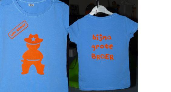 wel stoer, bijna grote broer. T-shirt voor een toekomstige grote broer.