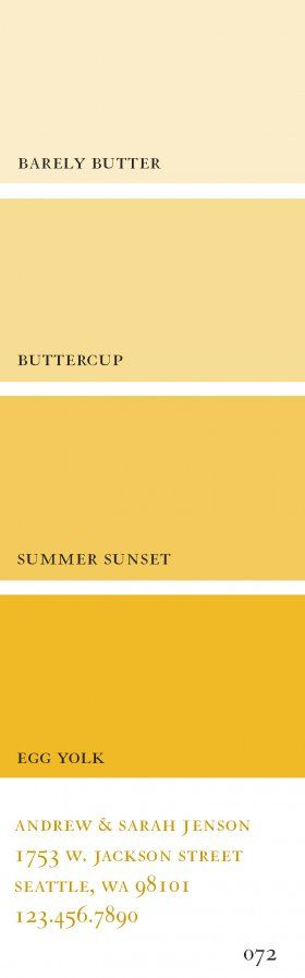 Yellow paint swatches - example of lighting for meeting place, park, and nightclub - Summer Sunset for elk lodge - Egg Yolk/Summer Sunset for Nightclub - Buttercup for park: