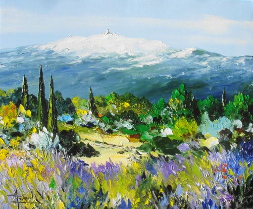 Tableau Peinture Oil Painting Du Mont Ventoux Christian Guinet