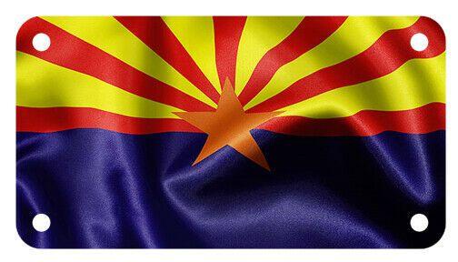 Arizona Flag Motorcycle Atv 4 X 7 License Plate Patriotic Wave Version Fastservicedesigns Arizona State Flag State Flags Arizona Flag
