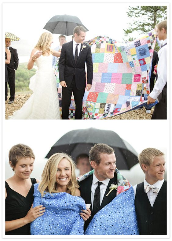 request that guests rsvp with a piece of fabric- any fabric- and incorporate into a quilt. great idea for a baby shower too