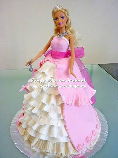 How to make a Barbie Birthday Cake - Click image to find more popular food & drink Pinterest pins