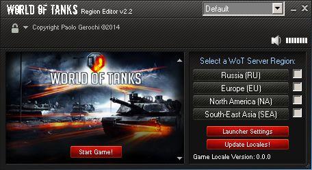 Topic: World of Tanks Launcher (Region Editor) -