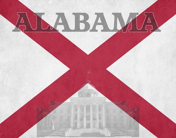 alabama state flag pictures