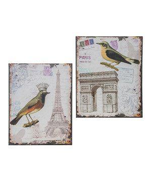 Look at this #zulilyfind! French Bird Canvas Set by Designs Combined Inc. #zulilyfinds