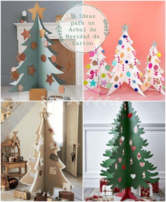 13 Ideas Para Hacer Un Arbol De Navidad De Carton Hacer Arbol De Navidad Arbol Navidad Reciclado Arbol De Navidad Manualidades